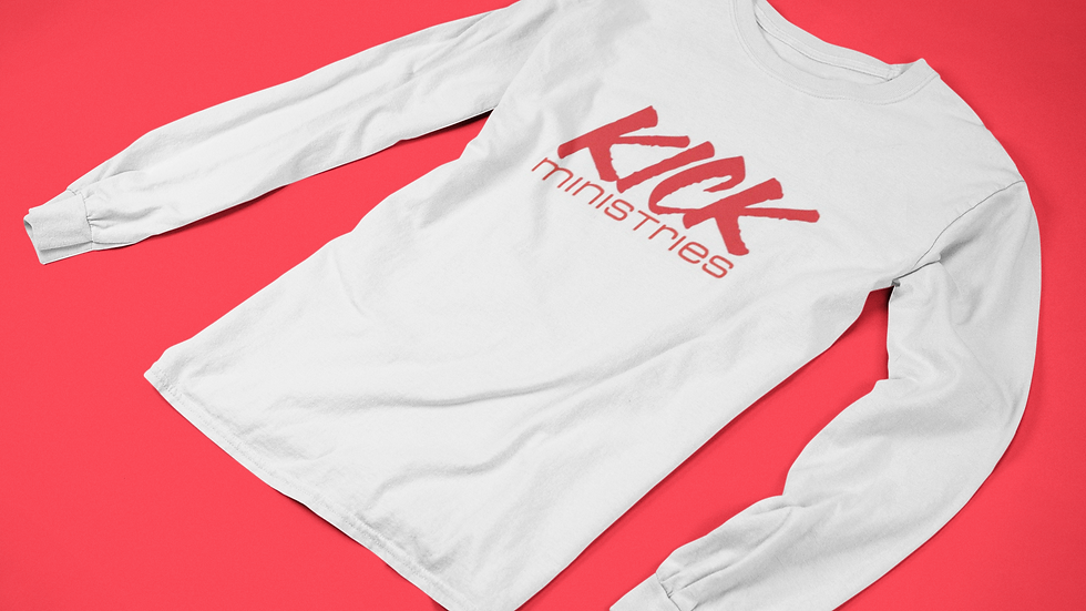 KICK Ministries Long-Sleeve - White/Red