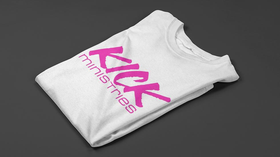 KICK Ministries T-Shirt - White/Pink