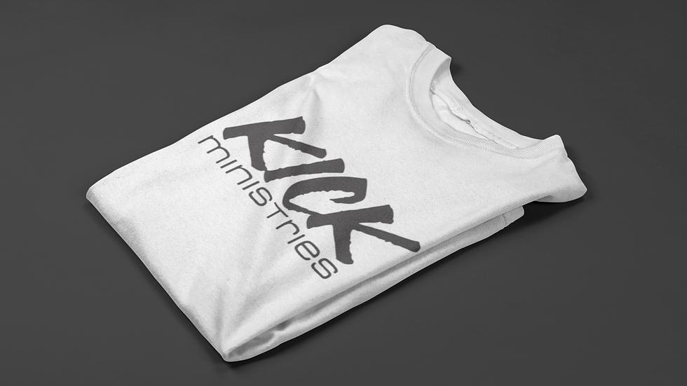 KICK Ministries T-Shirt - White/Black