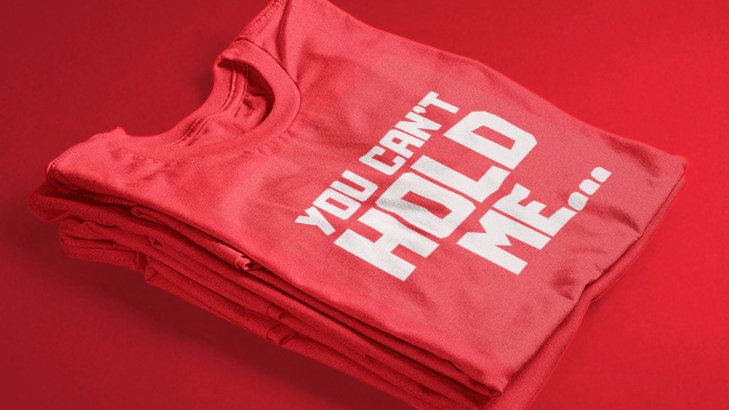 You Can't Hold Me (Red/White)