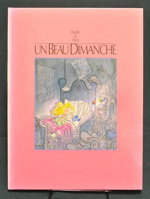 Un Beau Dimanche,すてきな日曜日, Clauda de Weck,ソンリーサ,Sonrisa,洋書,挿絵,古書,古本,千葉,佐倉,アベイユブックス