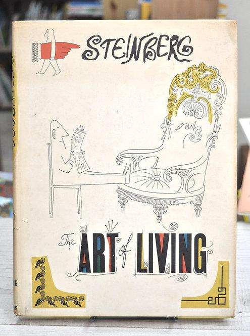 Saul Steinberg,THE ART OF LIVING,アート・オブ・リビング,ソウル・スタインバーグ,古書,古本,千葉,佐倉,京成佐倉,アベイユブックス
