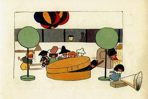 アンドレ・エレ,おもちゃ箱,絵本のはがき,ビブリオポリ,洋書絵本,古書,古本,千葉,佐倉,,京成佐倉,アベイユブックス