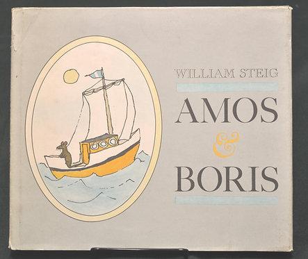 Amos and Boris,William Steig,Farrar Straus & Giroux,アモスとボリス,古書,古本,千葉,佐倉,アベイユブックス