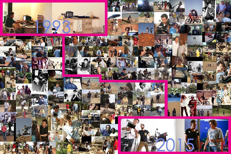 Parcour en images de 25 années d'expérience de Christophe Tardy en Afrique