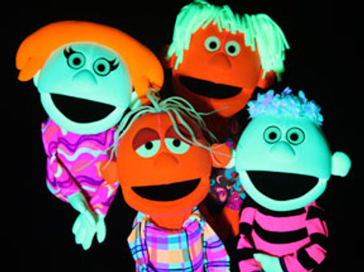 Glowby Fluorescent People Puppets (set of 4)