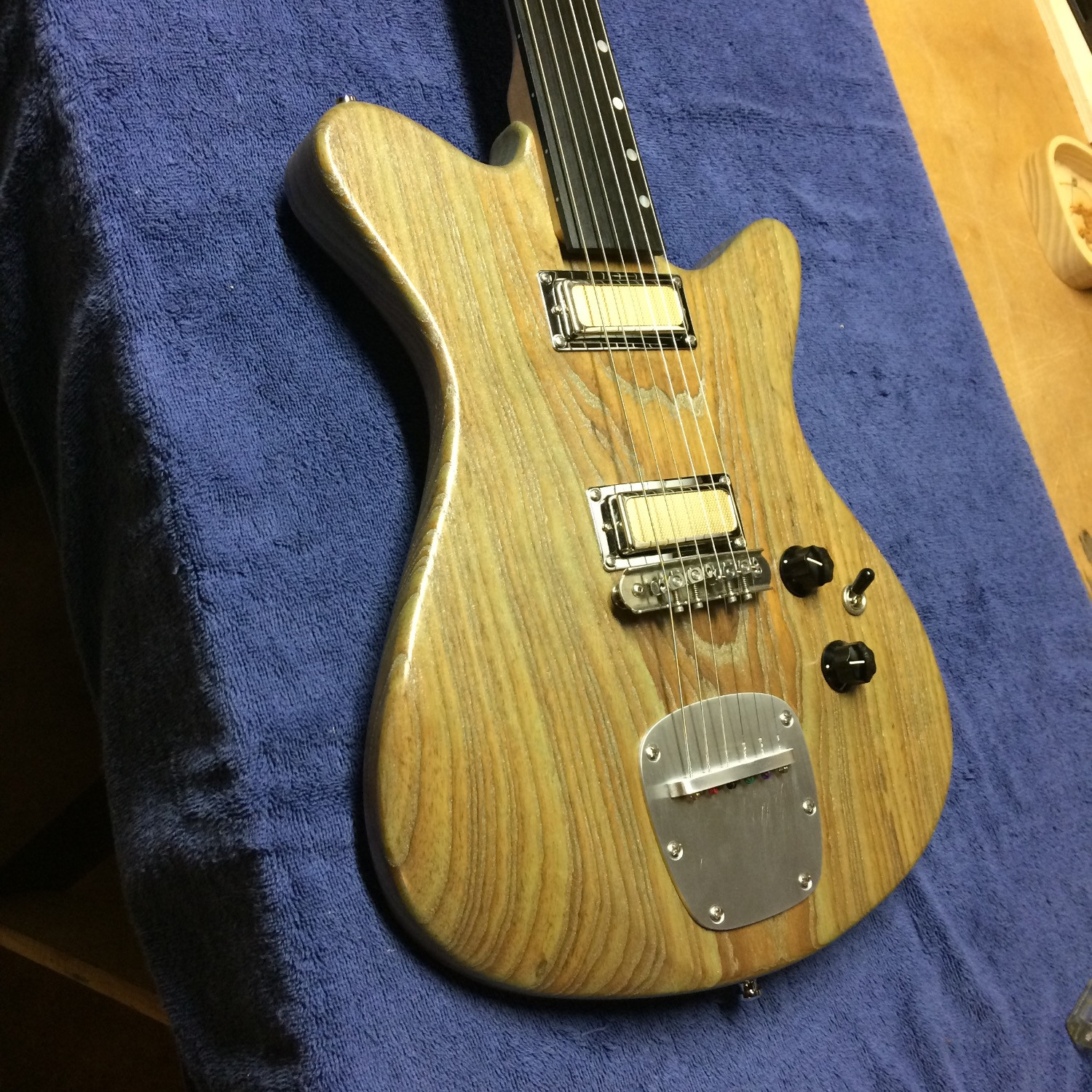 The Fretless (SOLD!) with its new Tailpiece