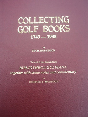 Collecting Golf Books 1743-1038
