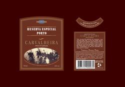 Cachaça Carvalheira - Rótulo para garrafa da Cachaça Especial Porto