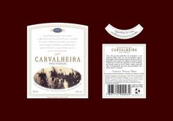 Cachaça Carvalheira - Rótulo para garrafa da Cachaça Tradicional