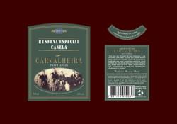 Cachaça Carvalheira - Rótulo para garrafa da Cachaça Especial Canela