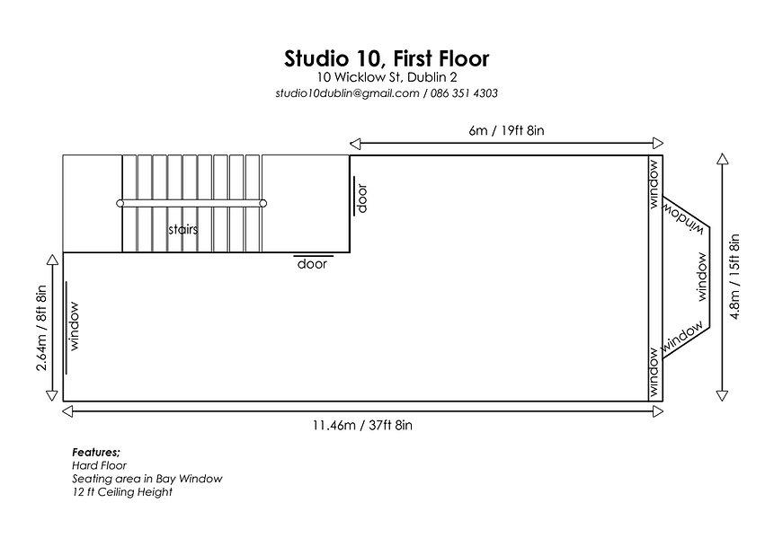Studio 10 Floor Plans, First Floor