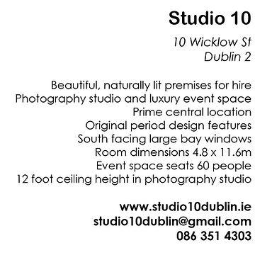 Studio 10, 10 Wicklow St website images