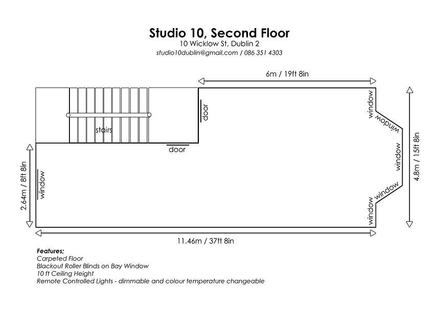 Studio 10 Floor Plans, Second Floor