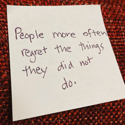 People more often regre the things they did not do