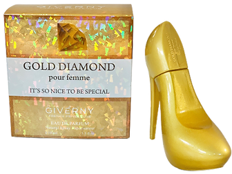 Giverny shoe bottle gold diamond.png
