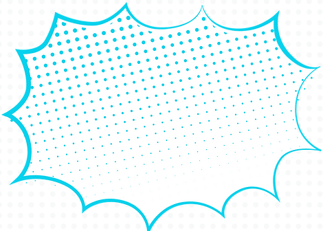 White Dots with Blue Comic Superhero Inv