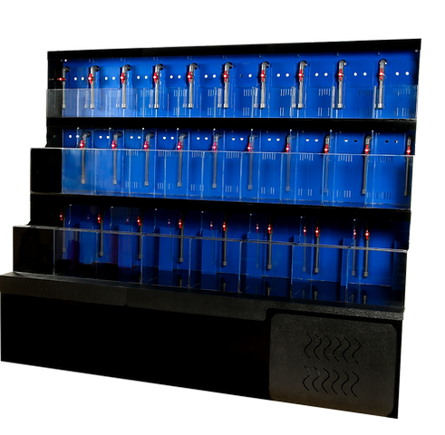 pro clear aquatic systems retail aquatic display. Acrylic unit with led lighting, sump filtration, pump, socks and more.