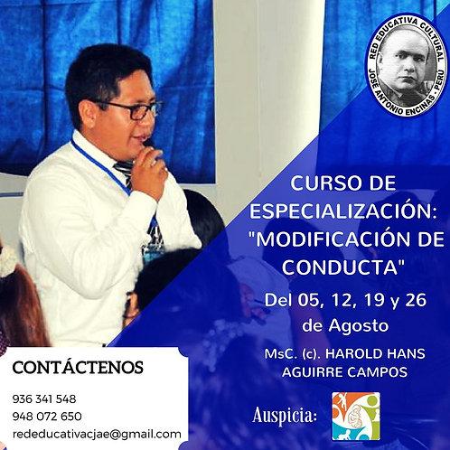Curso de Especialización en Modificación de la Conducta