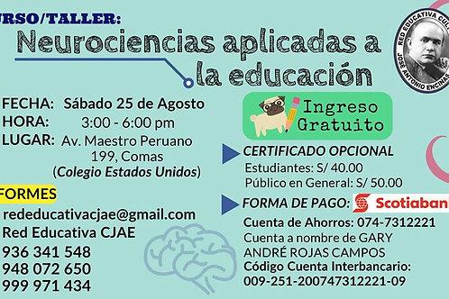 Curso/Taller: Neurociencias aplicadas a la educación