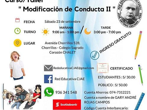 CURSO TALLER MODIFICACIÓN DE LA CONDUCTA II