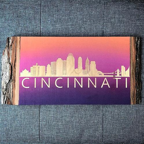 Live Edge Cincinnati Ohio Engraving