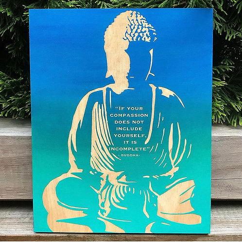 Buddha Quote Engraving