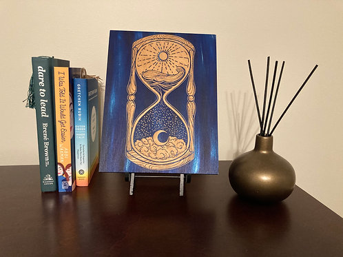 Sands Of Time Hourglass Engraving