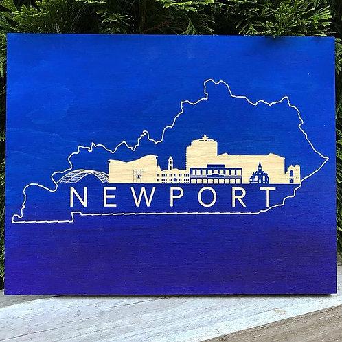 Newport Skyline Engraving