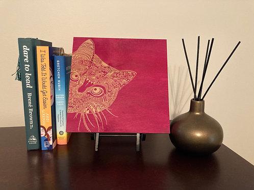 Mandala Peek-A-Book Cat