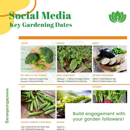 The Social Media Key Gardening Date