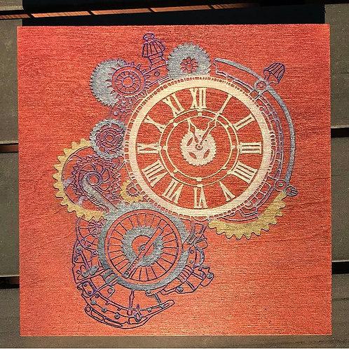 Steampunk Clock Engraving