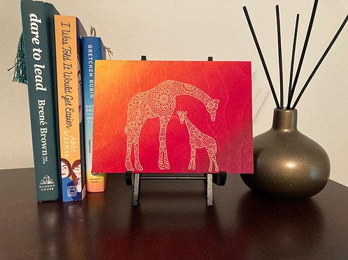 Mama and Baby Giraffe Mandala