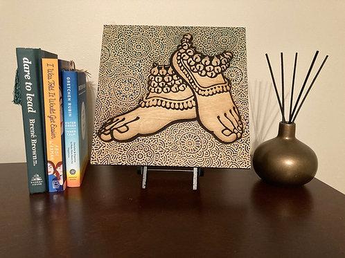 Ghungroo Mandala Engraving