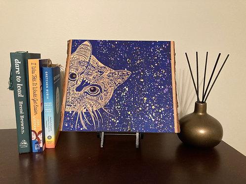 Live Edge Mandala Peek-A-Book Cat