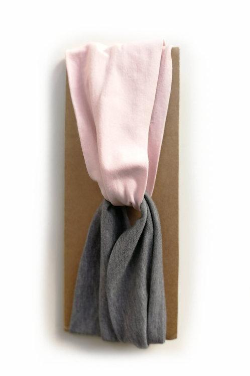 Fascia per capelli rosa grigio scuro