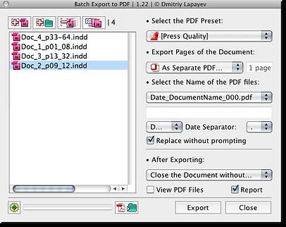 Batch Export to PDF