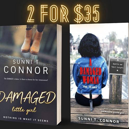 DAMAGED little girl paperback & A DAMAGED WOMAN paperback