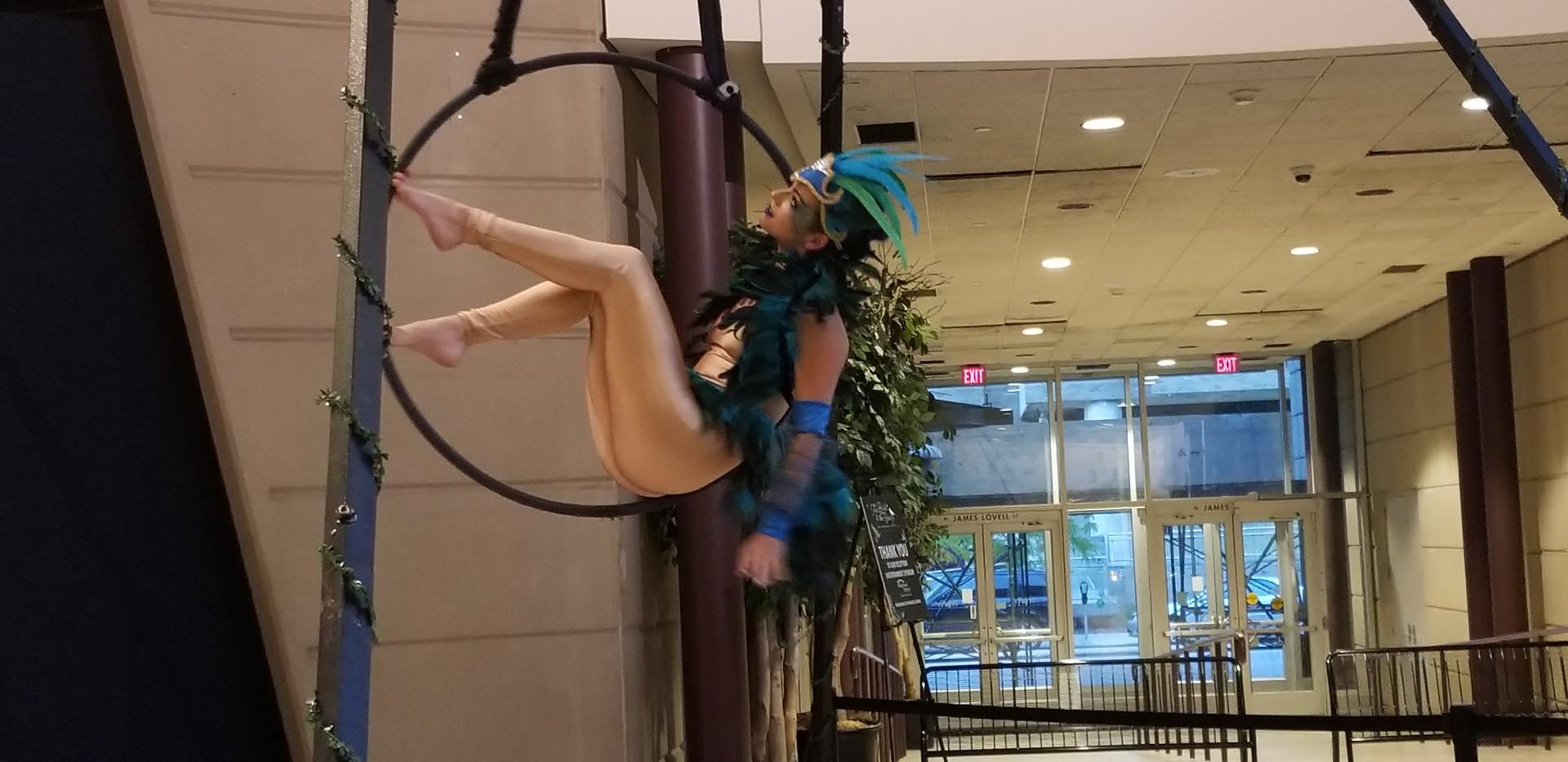 Anna as a Bird at Milwaukee Public Museum