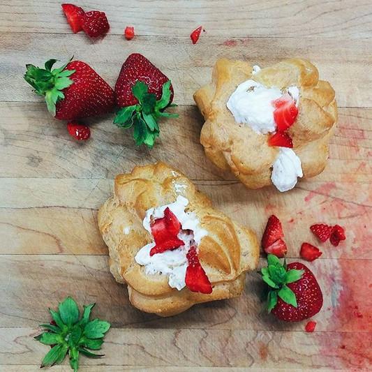 Enfin les fraises!🍓 Pour les accompagne