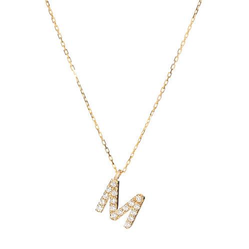 Customised Alphabet Full Diamond Necklace