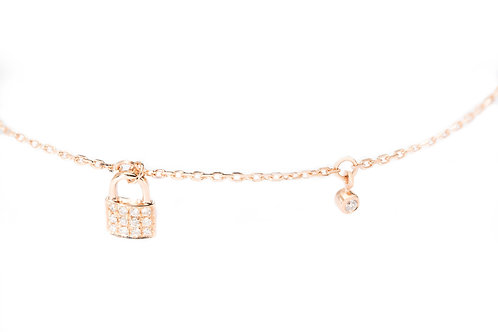 Locked in my Heart Diamond Bracelet