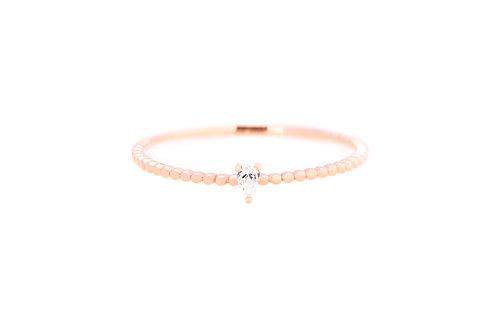 Scallop Band Diamond Ring