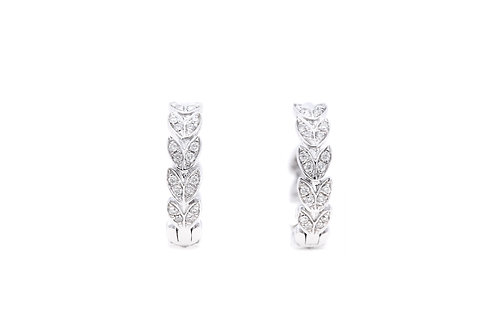A Deck of Hearts Diamond Earrings