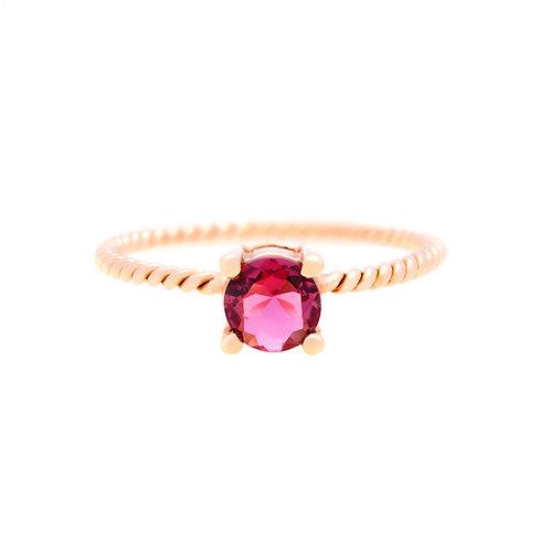 The Aurora Garnet Ring