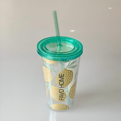Double-wall Tumbler with Lemon Pattern