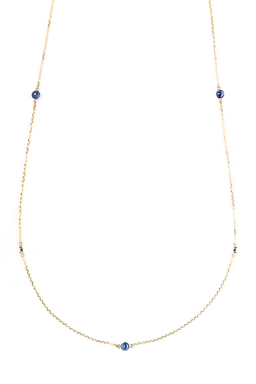 The Constellation Sapphire and Diamond Choker/ Long Necklace