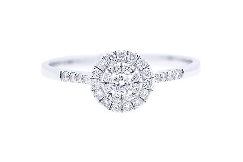 Solitaire Star Cluster Diamond Ring