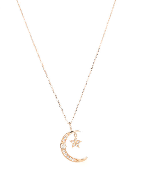 Meet Me At The Moon Diamond Necklace