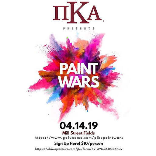 PIKE PAINT WARS IS BACK!!! On Sunday, Ap